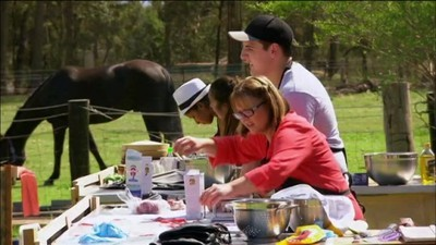 My kitchen rules au 6x27 offsite challenge farmer s for Y kitchen rules episodes