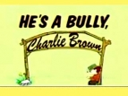 He's a Bully, Charlie Brown TV Show