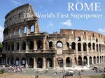 Rome: The World's First Superpower (UK) TV Show