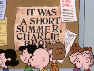 It Was a Short Summer, Charlie Brown tv show photo