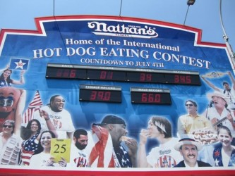 Nathan's Hot Dog Eating Contest tv show photo