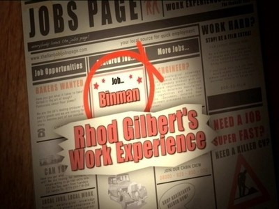 Rhod Gilbert's Work Experience (UK)