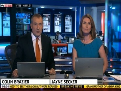 Sky News with Colin Brazier and Jayne Secker (UK)