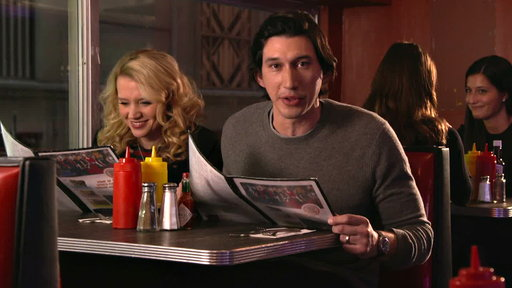 SNL Host Adam Driver and Kate McKinnon Grab a Bite at the Diner