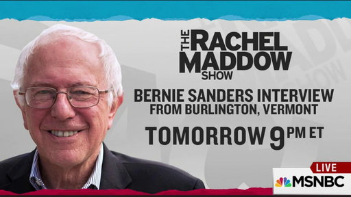 a review of rachel maddows interview with bernie sanders Msnbc's rachel maddow devoted the first 21 minutes of her thursday  equality, thank you senator sanders  time to do a thorough review of what.