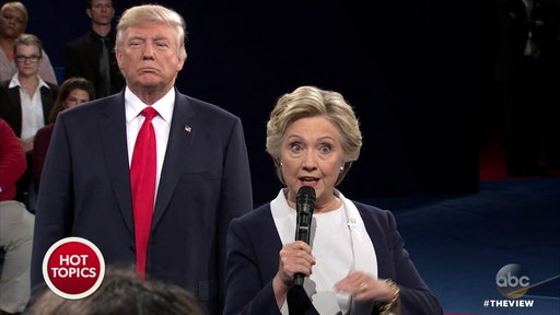 S20E25 The View Co-hosts Review the Presidential Debate: Hillary Goes High As Trump Goes Low