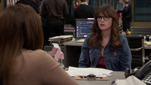 Season 6, Episode #4 Jess Is Given a Ton of Paperwork to Fill Out at the 9-9 Screenshot