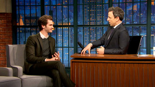 Late Night with Seth Meyers S04E50 Andrew Garfield, Mary Steenburgen, Colony House