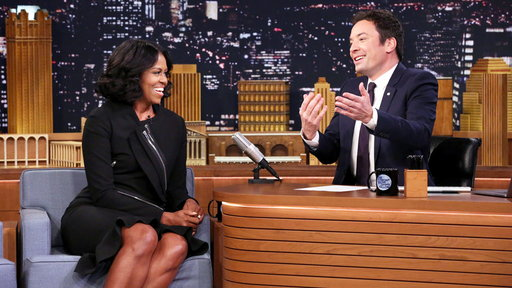 The Tonight Show Starring Jimmy Fallon S04E65 First Lady Michelle Obama, Stevie Wonder