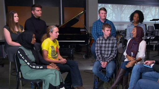 S20E84 Clay Aiken and Sunny Hostin Visit Iowa City's West High School On the View