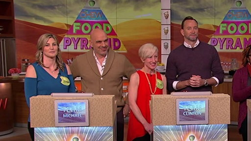 S6E88 The Chew Co-hosts Compete in the Food Pyramid