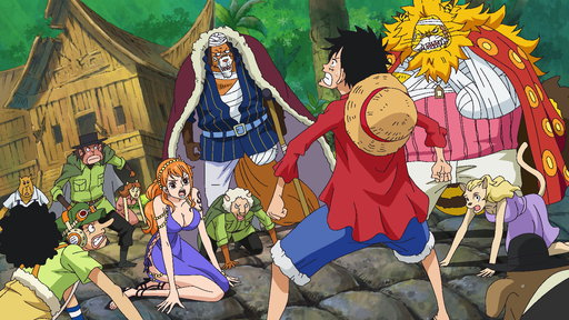 One Piece  S11E774 (Sub) A Battle to Defend Zou! Luffy and Zunesha!