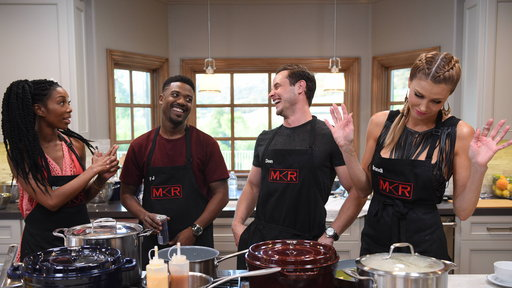 My Kitchen Rules (US) S01E04 Brandi vs. Brandy at David Arquette's