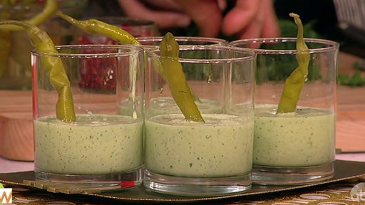 S6E114 Cucumber Melon Shooters With Pomegranate