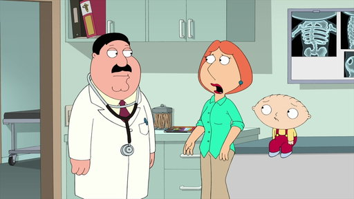 S15E14 Stewie Is Diagnosed With Scoliosis