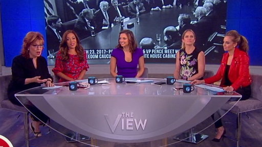 S20E132 The View Co-hosts React to Pence's Photo of All Men Discussing Healthcare