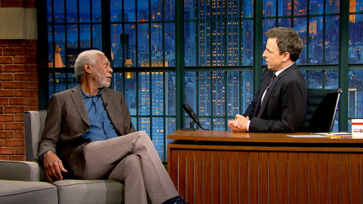 Late Night with Seth Meyers S04E90 Morgan Freeman, Keeley Hawes, Mikaela Shiffrin, Bastille