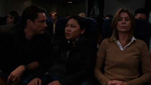 S13E20 Meredith and Nathan Confront Each Other on the Plane