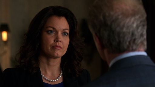 S6E10 Mellie Refuses to Out Her Opponent's Husband