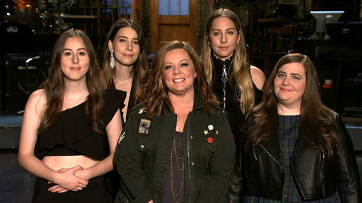 S42E20 Melissa McCarthy and Aidy Bryant Try to Join HAIM