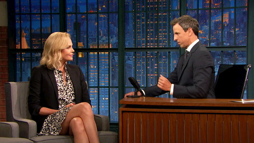 Late Night with Seth Meyers S04E136 Charlize Theron, Jane Lynch, Aminé