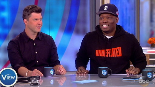 S20E215 'SNL's' Colin Jost and Michael Che Joke About Scaramucci and Trump On the View