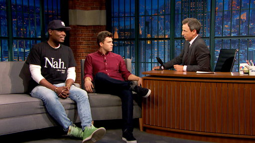 Late Night with Seth Meyers S04E146 Colin Jost and Michael Che, Brian Knappenberger