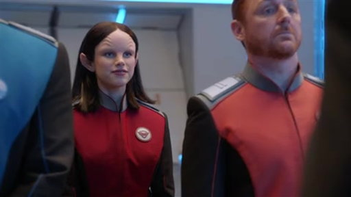 """S1E1 Alara Reassures She's Fit To Be The Chief Of Security from """"Old Wounds"""""""