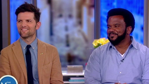 """S21E19 """"Ghosted"""" Stars Adam Scott and Craig Robinson on """"The View"""""""