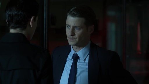 """Season 4, Episode #4 Detective Gordon Looks for Answers About the Knife From """"A Dark Knight: The Demon's Head"""" Screenshot"""
