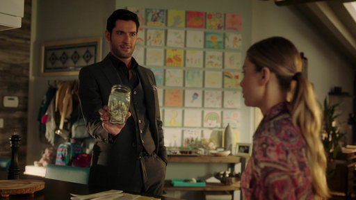 S3E5 Lucifer Gives Chloe's Child Money For Her Swear Jar