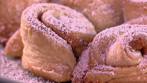 S7E52 How to Make Carla Hall's Puff Pastry Almond Snowflakes