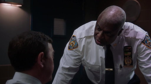 "S5E7 Captain Holt Interrogates His Team From ""Two Turkeys"""