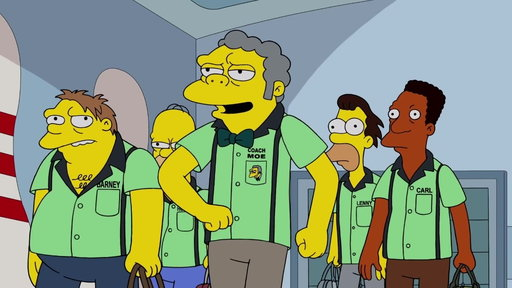 "S29E7 Moe & The Guys Go To The Bowling Ally From ""Singin' in the Lane"""