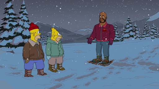 S29E9 Homer Runs Into Shaq in the Forest