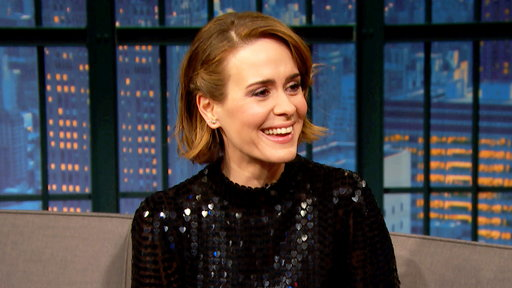 Late Night with Seth Meyers S05E43 Sarah Paulson, Judd Apatow, Grant Morrison