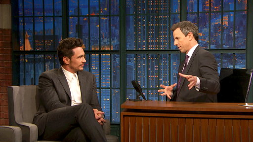 Late Night with Seth Meyers S05E50 James Franco, Lawrence O'Donnell, The Roots ft. Bilal