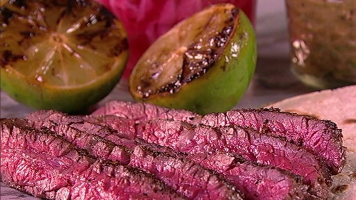 S7E90 How to Make Grilled Skirt Steak with Charred Tomatillo Salsa