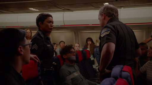 S1E4 Officer Grant Responds to a Ducked Taped Passenger on a Plane