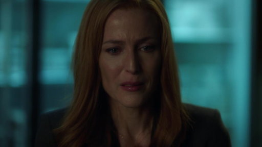 S11E5 Scully Cries Out To Her Son