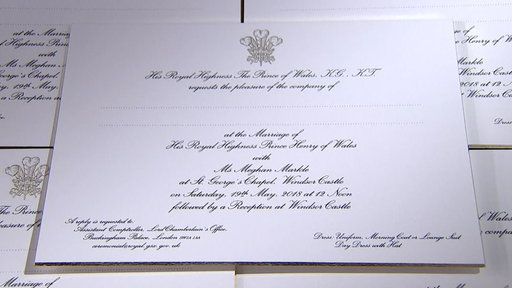 S0E0 See Prince Harry and Meghan Markle's wedding invitations