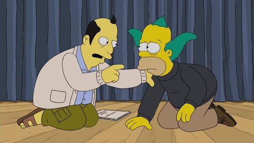 S29E14 Krusty The Clown's Coach Gives Him Some Encouragement