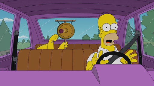 S29E15 Bart Distracts Homer While Driving