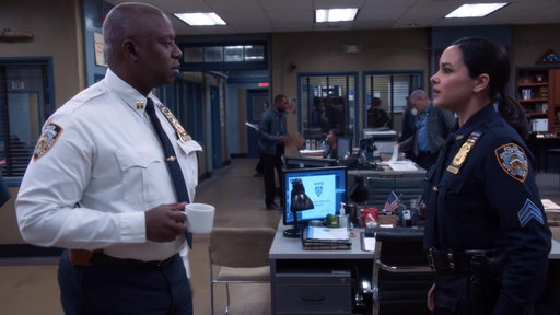 S5E16 Captain Ray Asks Amy About Her First Briefing