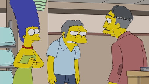 S29E16 Marge Takes Moe to Apologize to Morty