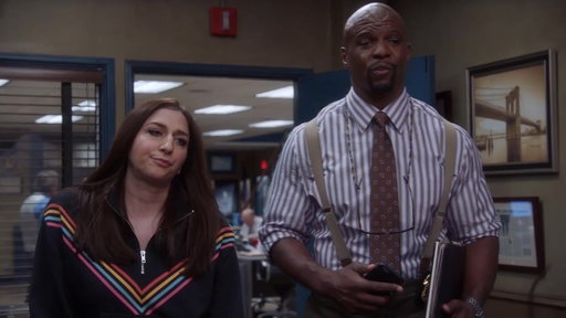 S05E18 Terry & Gina Deliver Bad News To Captain Holt
