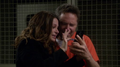 S7E18 Quinn and the Team Surprise Charlie in Jail