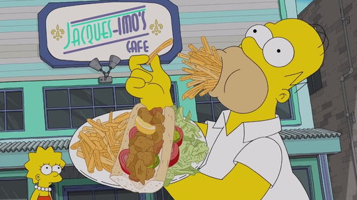 S29E17 Homer Eats His Way Through New Orleans