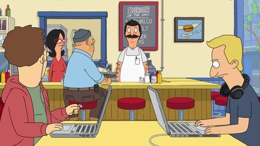 S8E16 College Students At Bob's Burgers Need The Wifi Password