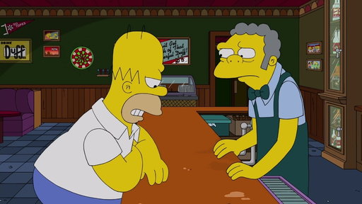 S29E19 Homer Bumps Into Bart At The Bar